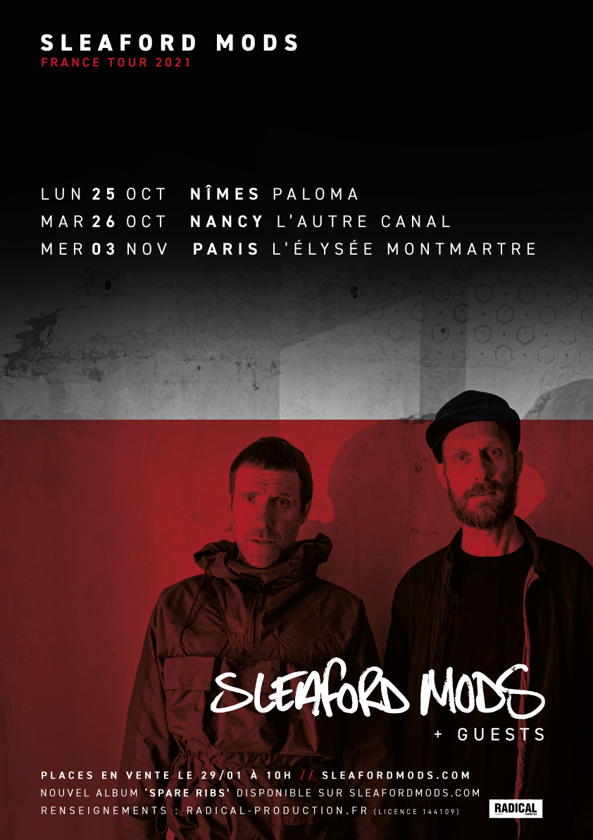Sleaford Mods - France Tour 2021